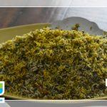 طرز تهیه سبزی پلو با تن ماهی