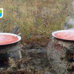 نپاشیدن رب گوجه هنگام پختن